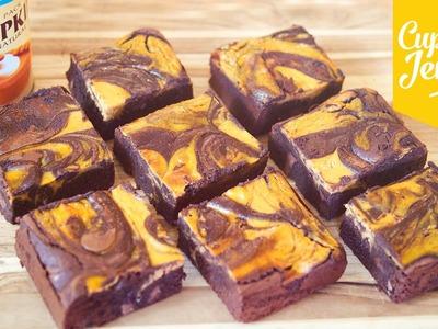 Pumpkin Cheesecake Brownie Recipe | Cupcake Jemma