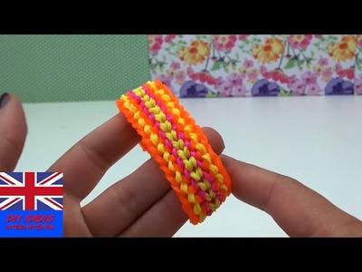 Rainbow loom dragon scale - DOUBLE DRAGON loom bracelet tutorial