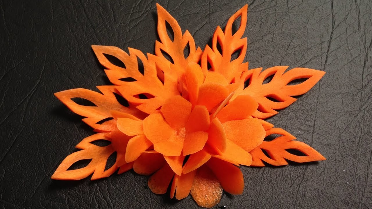 Simple Carrot Flower Lamduan - Beginners Lesson 9 By Mutita The Art Of Fruit And Vegetable Carving