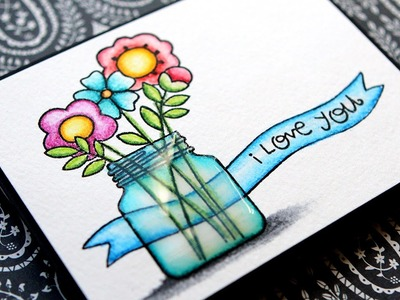 Simple Coloring with Inktense Pencils & Clear Wink of Stella