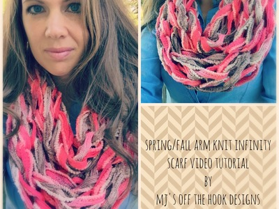 Spring & Fall Arm Knit Infinity Scarf