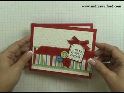 Stampin' Up! Tutorial: And Many More Birthday Card