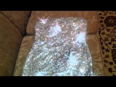 Swarovski crystal silver couture dress for sale video 1