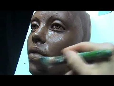 The Art of Sculpting Mask. Sculpting face mask in clay.