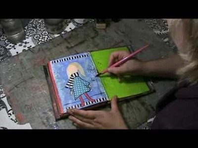 #01 - Art Journaling Mixed Media Workshop - Bloknote TV episode 01