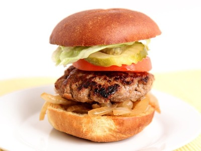 Cheddar Stuffed Burger Recipe - Laura Vitale - Laura in the Kitchen Episode 789