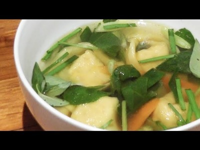 Chicken Wonton Soup Recipe - Mark's Cuisine #68