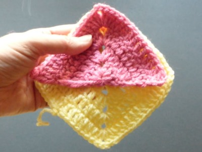 CROCHET ALONG - Granny Triangles 4 Diagonal Layout (4Right Handed)