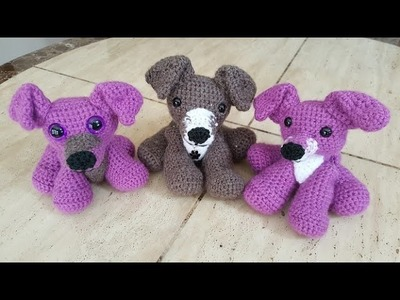 Crochet Easy Beginner Amigurumi Pitbull Puppy Dog DIY tutorial
