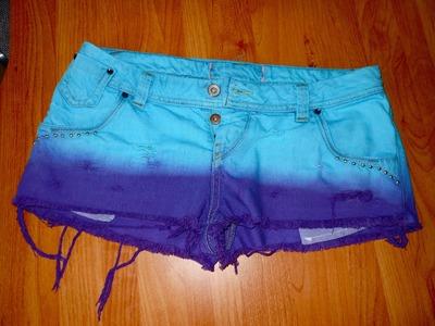 Diy: 2 Toned Dyed Shorts | Insatiable Donut