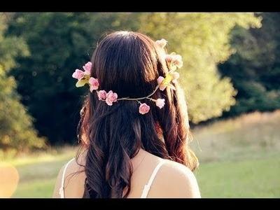 DIY Flower Crown.Halo.Headband