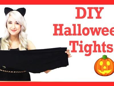 DIY Halloween Tights + Nail Beauty Hack! #17daily
