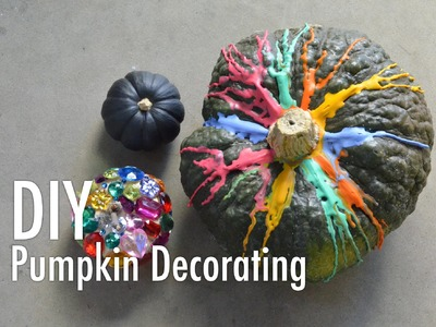 DIY Pumpkin Decorating: Jewels, Melted Crayons and Chalkboard Paint with Mr. Kate