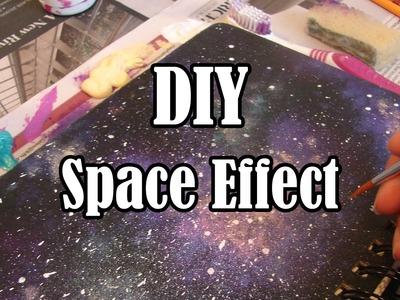 DIY Space Effect Sketchbook Painting