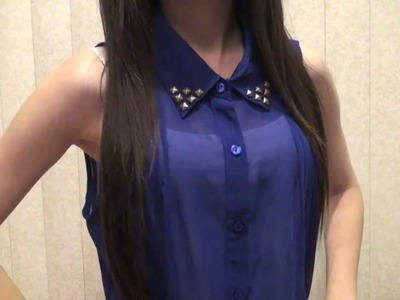 DIY: Studded Blouse (Collar)