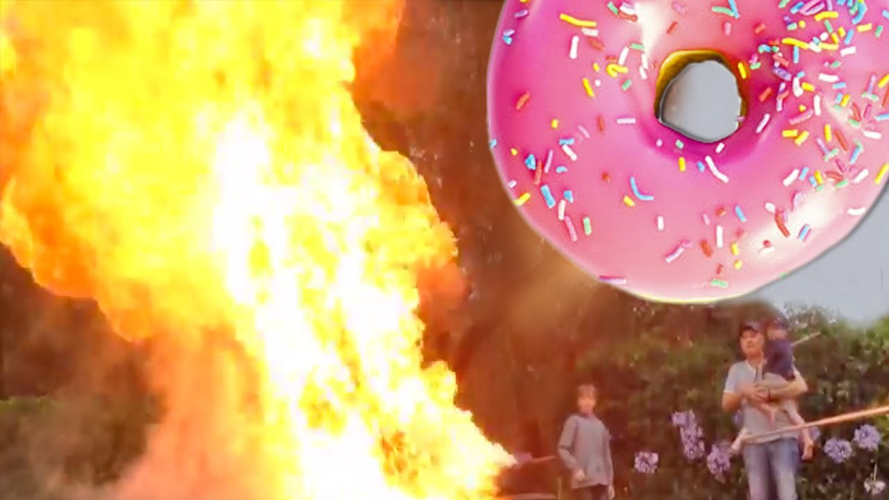 DONUT FIRE EXPLOSION How To Cook That Ann Reardon Simpsons Dunkin Donut Recipe