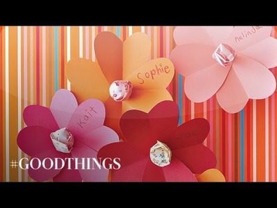 Good Things: How to Make Lollipop Flower Valentines - Martha Stewart