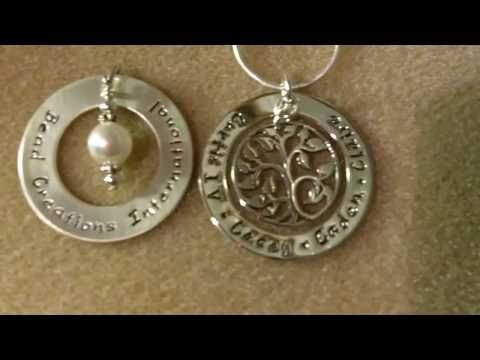 Hand Stamped Sterling Silver Necklace Part 2