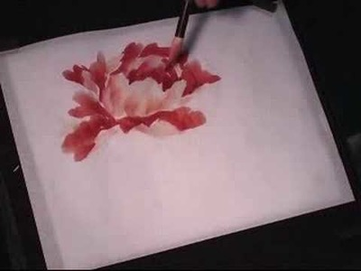 Hot-red Peony - a Chinese Painting Tutorial