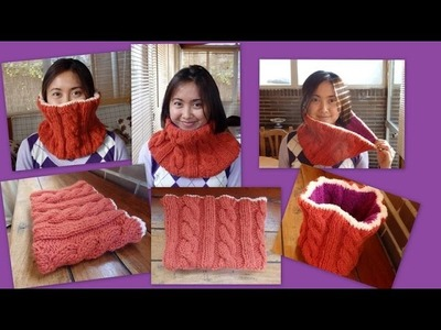 How to knit neck warmer. como hacer un cuello ( Spanish subtitle) Senorita wool fashion