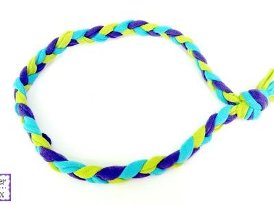 How To Make A Braided T-Shirt Yarn Headband, Episode 219