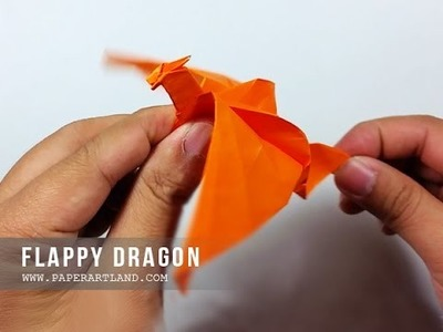 How to Make a Paper Flapping Dragon - Origami Batiendo Dragón ( Easy )