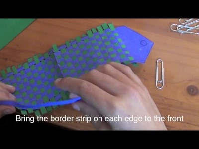 How to make a woven bookmark