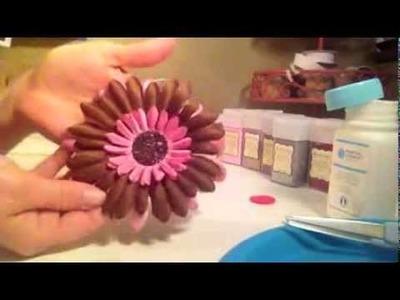 How to make glitter center for hair flower or flower headband