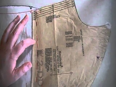 How to Modify a dress pattern by removing the empire waist seam