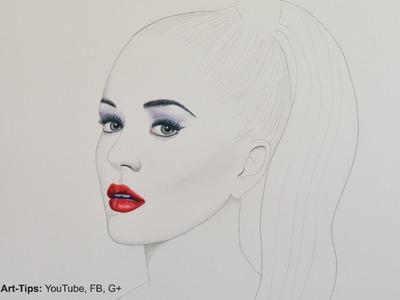 Katy Perry - How to Draw a Minimalistic Portrait