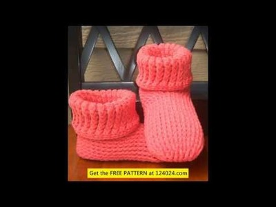 Knitted ugg boots easy knit baby booties knitted boot cuffs pattern