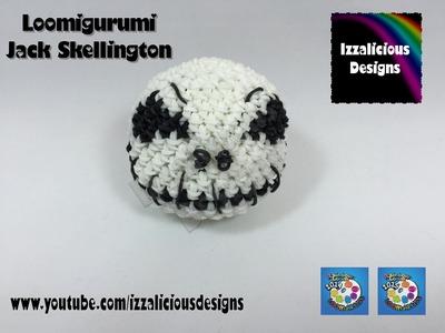Loomigurumi Jack Skellington Skull for Halloween - hook only - amigurumi with Rainbow Loom Bands