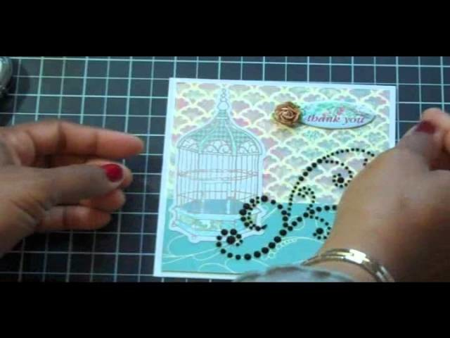 Lori's Garden Birdhouse #1 and Stampin Up Letterpress, card making, paper crafting