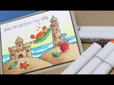 Magical Monday: How to Color Sand (Lawn Fawn - Life is Good)