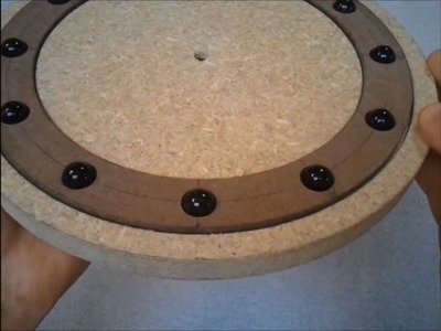 Making a wooden bearing for a lazy Susan (part 1 of 4)