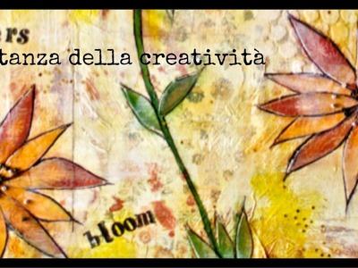 Mixed Media canvas: bloom