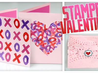 Stamped Valentines & Doily Envelopes - Do It, Gurl