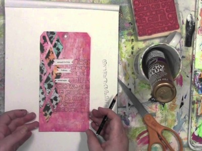 Stencil Play with StencilGirl's Flower Part 2 with Carolyn Dube