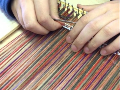 Tapestry weaving on a Simple Frame Loom
