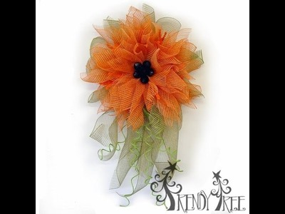 Trendy Tree Orange Poly Burlap Flower Tutorial