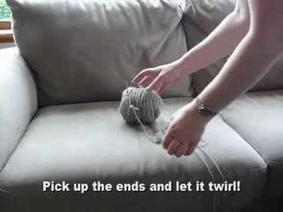Twined knitting - how to untwist the yarns easily
