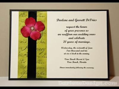 Wedding. Vow Renewal Invitation
