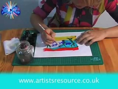 Arts & Craft Make a Stained Glass Greetings Card- Glass Painting Project - Art and Craft