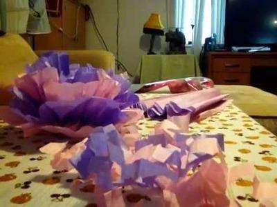 ASMR Tutorial Tissue Paper Flowers