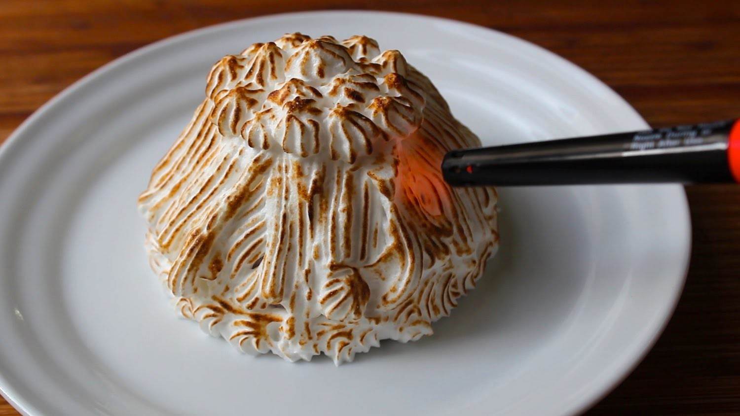 Baked Alaska with a Lighter! How to Make Baked Alaska Ice Cream Cake