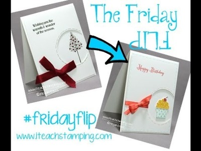 CardMaking:  How To Make a Birthday Card - Friday Flip
