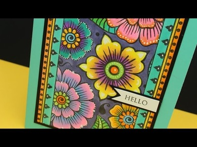 Copic Blending Tips: Stained Glass Flower Card