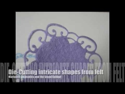 Cutting intricate felt shapes from Marianne Creatables