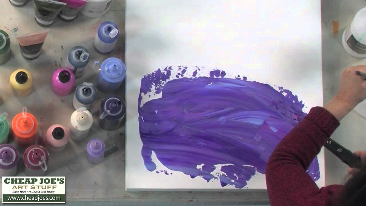 Debbie Arnold- Acrylic Texture with Plastic Wrap