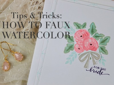 Design Clips: How To Faux Watercolor